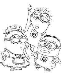 minions colouring 21 print color free