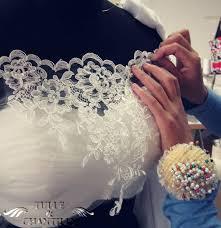 Custom Wedding Dress Process Show Time Romantic Custom Off The Shoulder Lace Applique