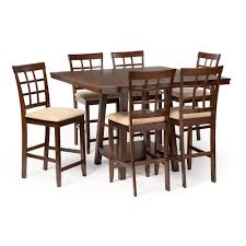 baxton studio katelyn modern pub table set 7 piece modern dining