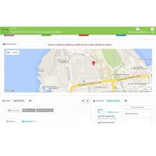 choose shipping address on map delivery map prestashop addons