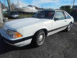 1989 ford mustang 4 cylinder ford mustang hatchback 1987 white for sale 1fabp41a3hf231606 1987