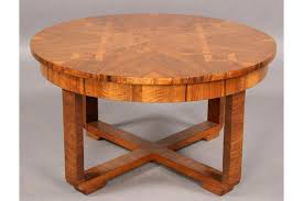 Art Deco Coffee Table by Good Art Deco Vintage Round Inlaid Coffee Table
