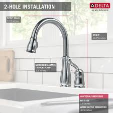 delta leland pull kitchen faucet delta leland pull touch single handle kitchen faucet with