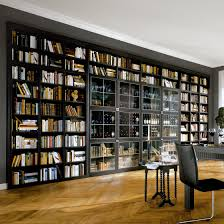 modern home library design with open storage bookshelves and cool