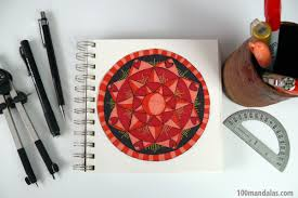 how to draw and color mandalas step by step video instructions on