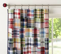 Pottery Barn Madras Curtains Madras Blackout Panel 44x84 Navy Multi Blackout Panels Room