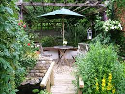 outdoor peaceful small backyard landscaping tips and photos
