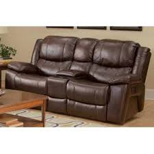 dual recliner with console wayfair