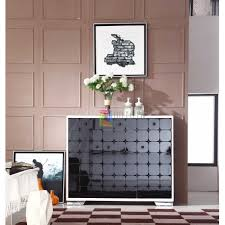 living room furniture storage modern white black 3 door 3 drawers shoe cabinet living room