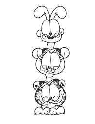 coloring page garfield totem coloring me