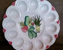vintage deviled egg plate deviled egg plate etsy