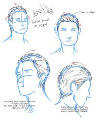 slicked back hair tutorial by aerorwen on deviantart drawing
