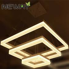 Acrylic Ceiling Light Modern Square Led Acrylic Pendant Light Hotel Exhibition