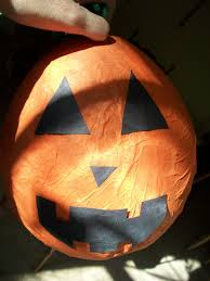 balloon and tissue paper halloween pumpkin craft woo jr kids