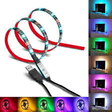 Led Color Changing Light Strips by Usb Rgb Led Strip 1 Meter Multi Color Changing Rgb Led Light Strip
