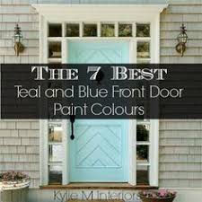 the wicker house painted exterior front door blue teal color