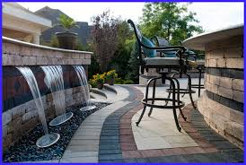 outdoor water features with lights d i y saturday 6 outdoor water features regarding ideas 3