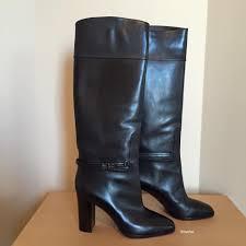 christian louboutin mervillon black leather knee boots size 39