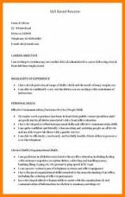 Skill Based Resume Samples by 10 Skill Based Resume Template Janitor Resume Cover Letter And