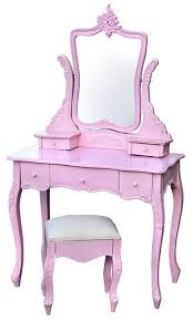 Pink Vanity Table Pink Dressing Table With Stool Pink Pinterest Pink