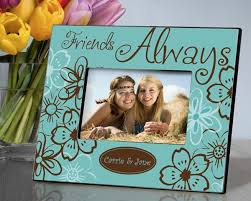 personalized trendy turquoise everlasting friends picture frame