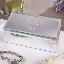 personalized boxes personalized small mirrored jewelry box custom engraved message