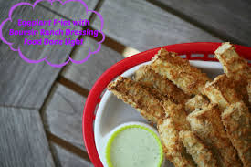 boursin cuisine light eggplant fries with boursin ranch dressing food done light