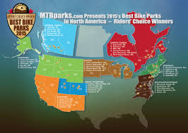 World Map According To America by The Best Bike Parks In North America According To Mtbparks Com