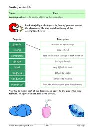 Properties Of Light Worksheet Eyfs Ks1 Ks2 Everyday Materials Teachit Primary