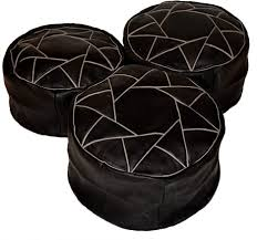 ottoman appealing leather pouf round ottoman black cocktail grey