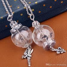 diy glass pendant necklace images Wholesale handwork diy dandelion glass pendant glass cover with jpg
