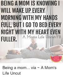 Being A Mom Meme - being a mom is knowing i will wake up every morning with my hands