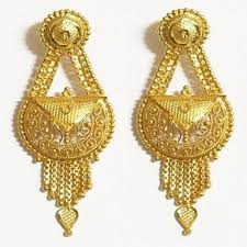 gold earrings for wedding wedding gold earrings at rs 30000 s gold earrings id