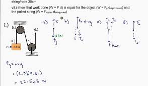 pulley worksheet 2 example 1 youtube