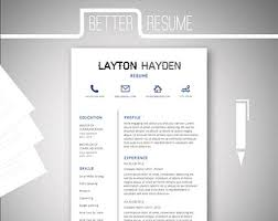 one page resume template cover letter template for microsoft