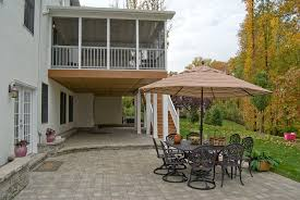 Make Your Own Patio Pavers Screened Porch With Decking System And Paver Patio