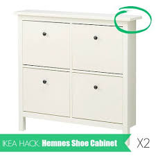 ikea hack shoe cabinet ikea hack hemnes shoe cabinet how to install two hemnes shoe