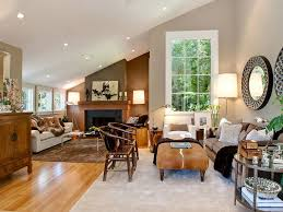 stupendous fireplace surround by windows cottage living room built