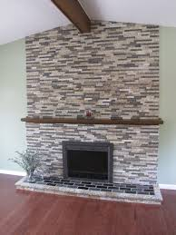 rock over brick fireplace luxury home design modern under rock