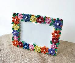 diy paper quilled photo frame 6 steps with pictures