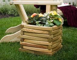 treated pine log planter