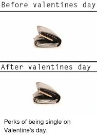 Valentines Day Single Meme - before valentines day after valentines day perks of being single on