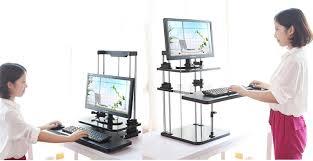 Desk Risers For Standing Desk Aliexpress Com Buy Sit Stand Desk Riser Three Level Height