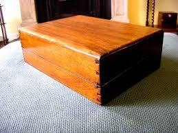 Orange Desk Accessories by Antique Victorian Walnut Hinged Wooden Box Jewelry Vintage Storage