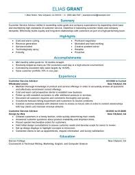 Sales Resume Example by Best Sales Customer Service Advisor Resume Example Livecareer