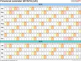 financial calendars 2015 16 uk in microsoft excel format
