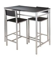 Kitchen High Table And Chairs - amazon com winsome hanley 3 piece high table with 2 high back