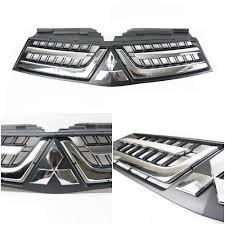 mitsubishi logo black black grille grill with chrome logo fit for mitsubishi triton l200