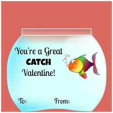 fish valentines diy you re a great catch card using goldfish free