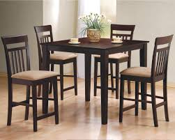 dining room large rectangle brown black themed tall dining table